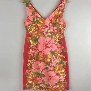 Tracy Faith For Target Bright Floral Fitted Dress